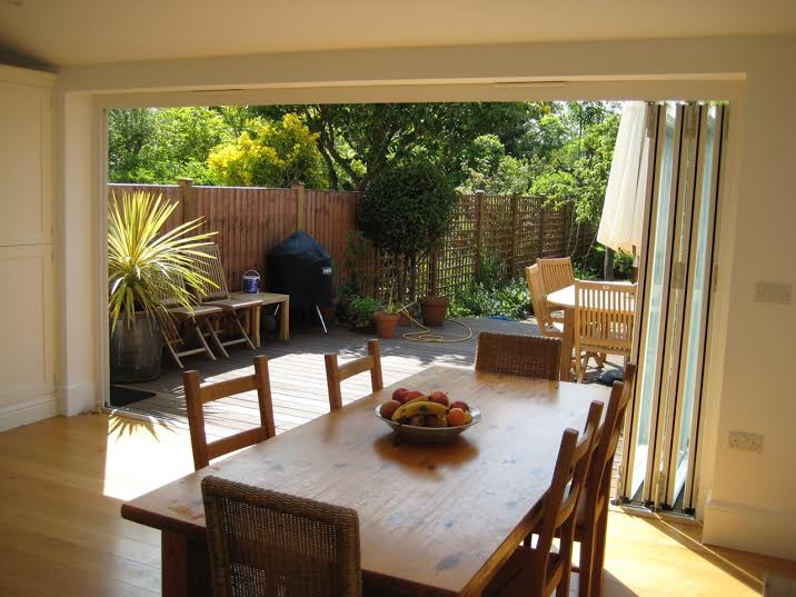 Charming Large Folding Sliding Doors Open Up To A Large Deck And Beautiful West Facing  Garden Good Ideas